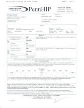 Slater PennHip certificate